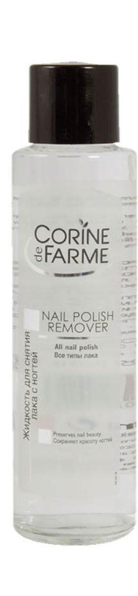 Corine De Farme Жидкость для снятия лака с ногтей, 200 мл40169Жидкость для снятия всех, даже особо стойких, типов лака. Жидкость тщательно снимает лак с ногтей, после чего вы снова можете наносить лак.