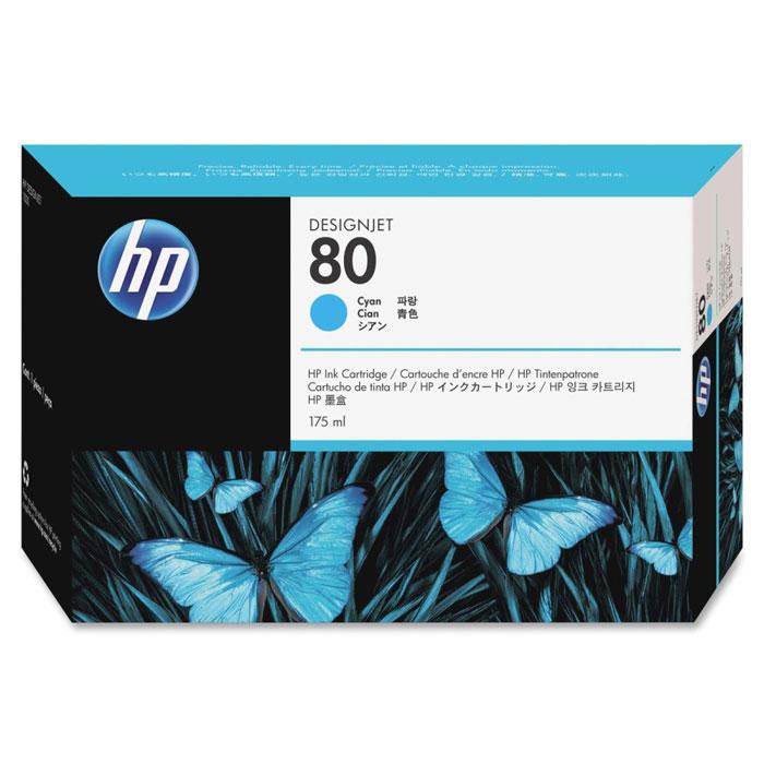 HP C4846A (80), Cyan струйный картридж чернильный картридж hp c9398a cyan
