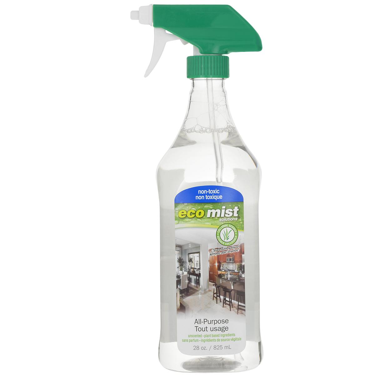 Средство универсальное для очистки любых поверхностей Eco Mist, 825 млEM825XXAPTR06EFLИдеальное, высоконконцентрированное универсальное средство Eco Mist для придания чистоты любым поверхностям в доме, в том числе детских игрушек, полови предметов в детской комнате. Также подходит для мытья предметов при уходе за пациентами. Это чистящее средство можно разбавить для приготовления рабочего раствора в пропорции 1:7, то есть 100 мл средства на 700 мл воды. Идеальная чистота - гарантированное здоровье для вас, ваших детей, близких и домашних животных. Не токсично. Без запаха.Состав: дехлорированная вода, кукуруза, древесный сок, трава, экстракт картофеля, сахарный тростник.
