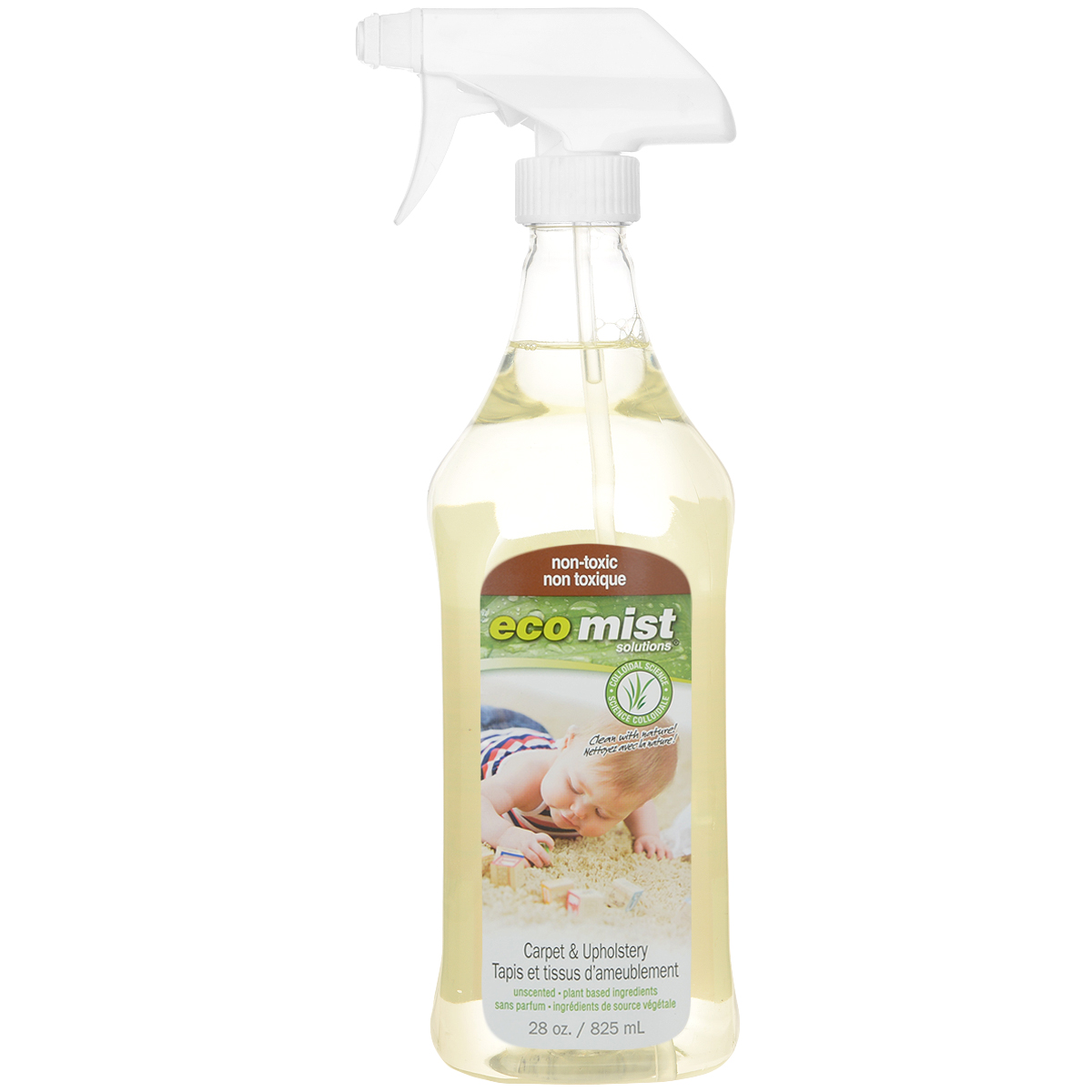 Средство для чистки ковров и обивочной ткани Eco Mist, 825 мл пена для чистки мягкой мебели