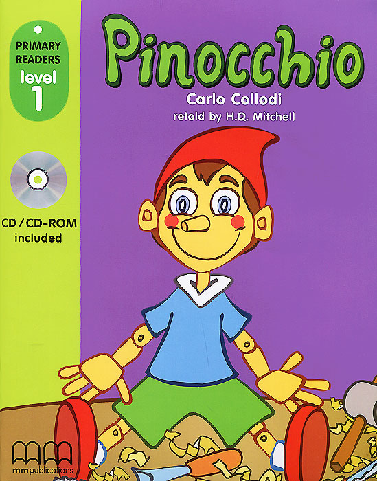 Pinocchio: Primary Readers: Level 1 (+CD-ROM) primary readers level 1 the ugly duckling teacher s book cd rom