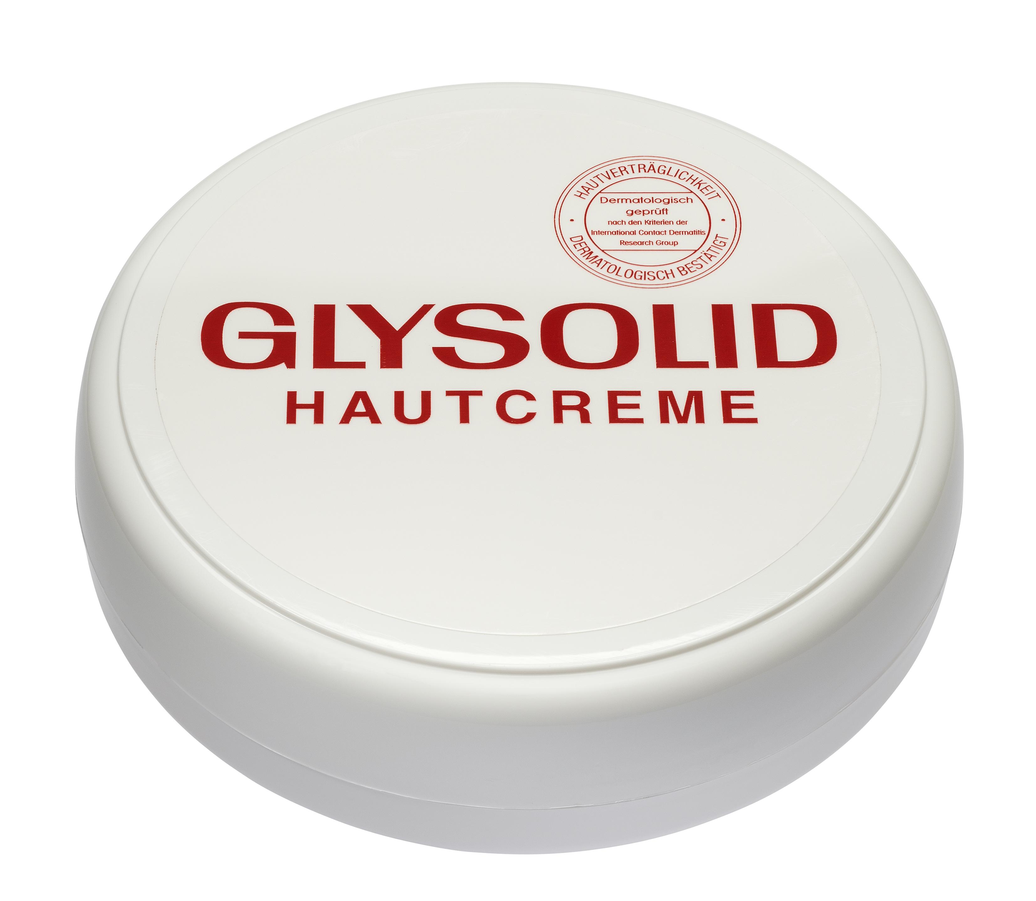 Glysolid Крем для сухой кожи рук с глицерином 100 мл50400050Легкий увлажняющий крем для кожи на основе глицерина и аллантоина Glysolid - проверенное европейское средство для интенсивного ухода за нормальной и сухой кожей. Glysolid увлажняет, питает, защищает, поддерживает регенерацию и естественную влажность кожи. Легкий состав крема отлично распределяется по коже и быстро впитывается, не оставляя жирной и липкой пленки. Без консервантов, красителей, парабенов, дерматологически протестирован.