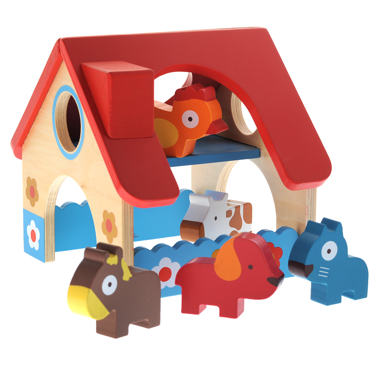 Djeco Игровой набор Деревянная ферма игровые наборы игрушки из дерева развивающая игрушка игровой набор ферма
