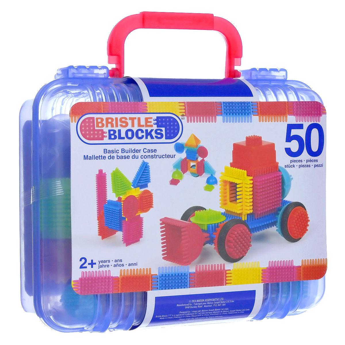Bristle Blocks Конструктор игольчатый 50 деталей цвет синий
