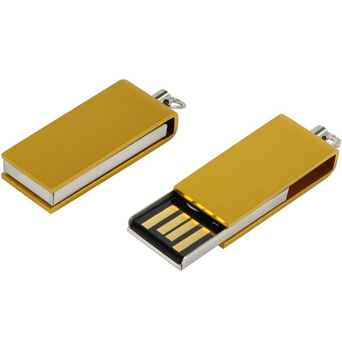 Iconik Свивел 8GB, Gold USB-накопитель (под логотип)MT-SWGL-8GBФлеш-накопитель Iconik Свивел выполнен в виде брелока. Накопитель имеет металлический ударопрочный корпус, а высокая пропускная способность и поддержка различных операционных систем делают его незаменимым. Флеш-накопитель Iconik Свивел имеет место для нанесения логотипа.