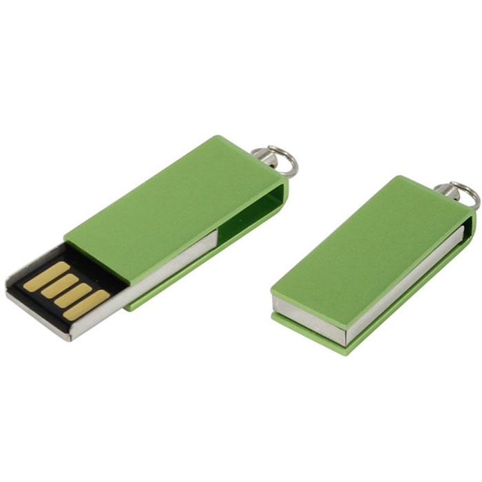 Iconik Свивел 8GB, Green USB-накопитель (под логотип) - Носители информации