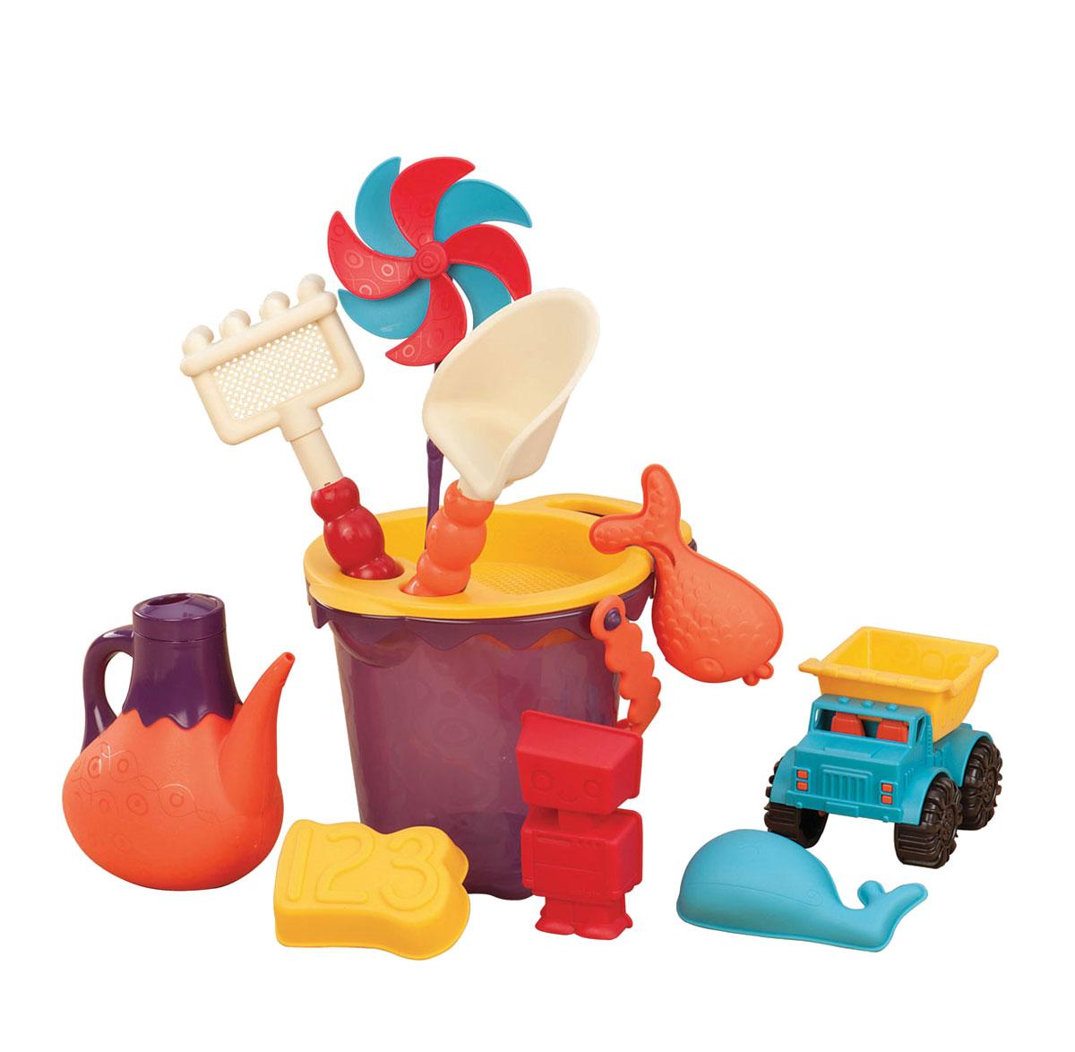 B.Summer Набор для песка Ready Beach Bag цвет красный 12 предметов - Игры на открытом воздухе