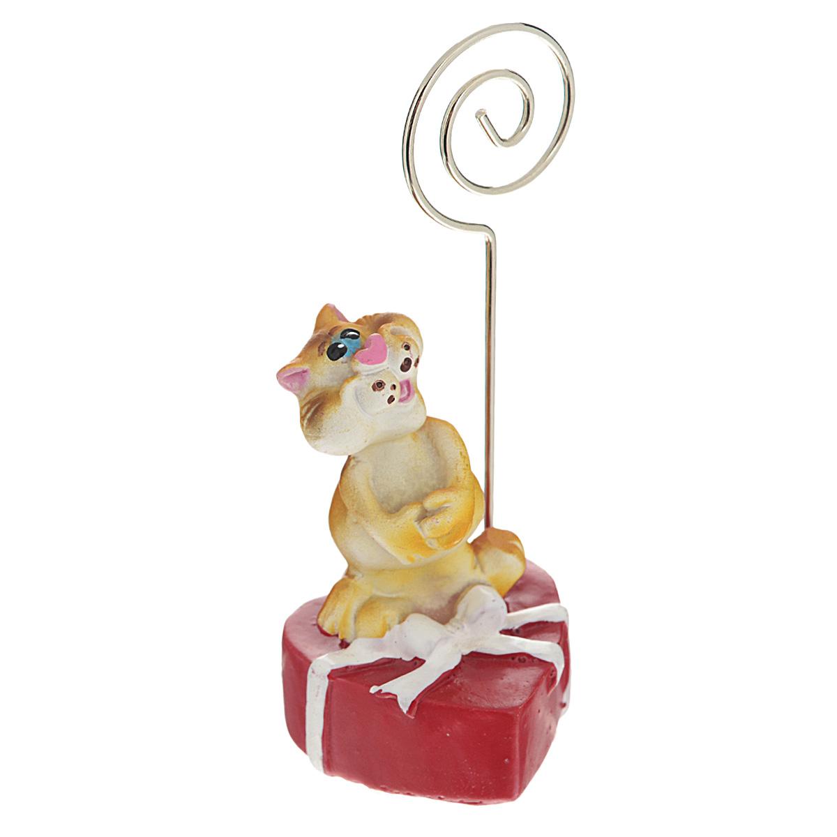 Держатель для карточек Home Queen  Кот с маленьким сердцем  -  Офисное оборудование и аксессуары