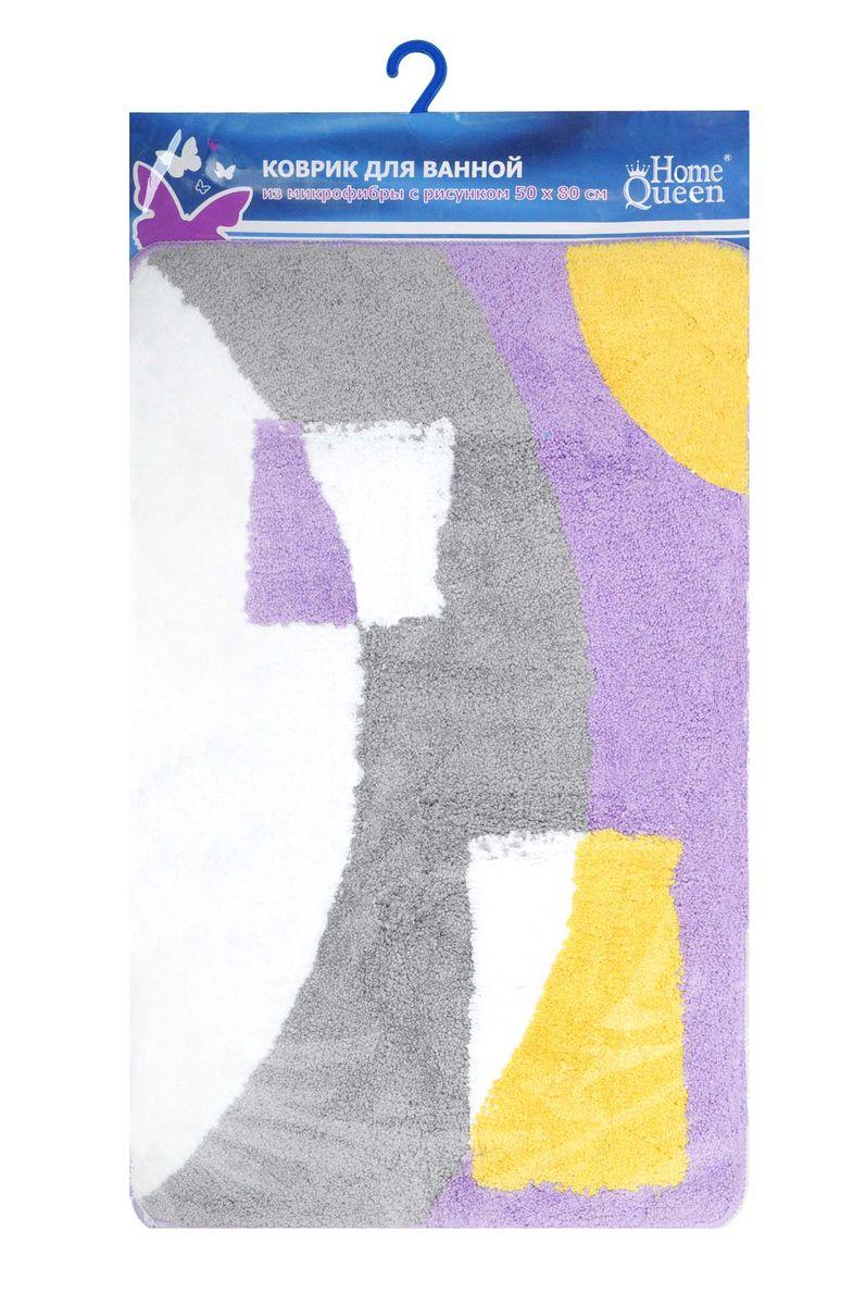 Коврик для ванной комнаты Fresh Code, цвет: сиреневый, 80 см х 50 см58178Коврик для ванной Fresh Code изготовлен из 100% полиэстера. Коврик, украшенный ярким цветным рисунком, создаст уют в ванной комнате. Высокий пушистый ворс из микрофибры превосходно впитывает влагу, создает комфортное, очень мягкое покрытие.Рекомендации по уходу: - стирать в ручном режиме, - не использовать отбеливатели, - не гладить,- не подходит для сухой чистки (химчистки).