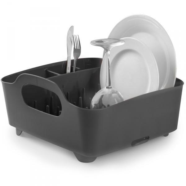 Сушилка для посуды Umbra Tub, цвет: серый, 34,5 х 37 х 18 см330590-582Сушилка для посуды Umbra Tub выполнена из полипропилена - высокопрочного нескользящего материала. Компактный дизайн изделия создает огромное пространство для хранения и сушки посуды. Несколько отсеков, которые позволяют уместить приборы, чашки, тарелки, и при этом они все будут на своем месте. В ней даже можно сушить бокалы и стаканы, благодаря специальным шипам, они не будут скользить. Сушилка ставится прямо в раковину. Благодаря ножкам, вода не будет застаиваться под сушилкой. Для удобства переноски изделие имеет удобные ручки.Размер сушилки: 34,5 см х 37 см х 18 см.