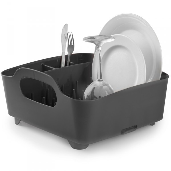 Сушилка для посуды Umbra Tub, цвет: серый, 34,5 х 37 х 18 см сушилка для посуды и столовых приборов umbra tub цвет мятный 9 1 х 38 1 х 35 6 см