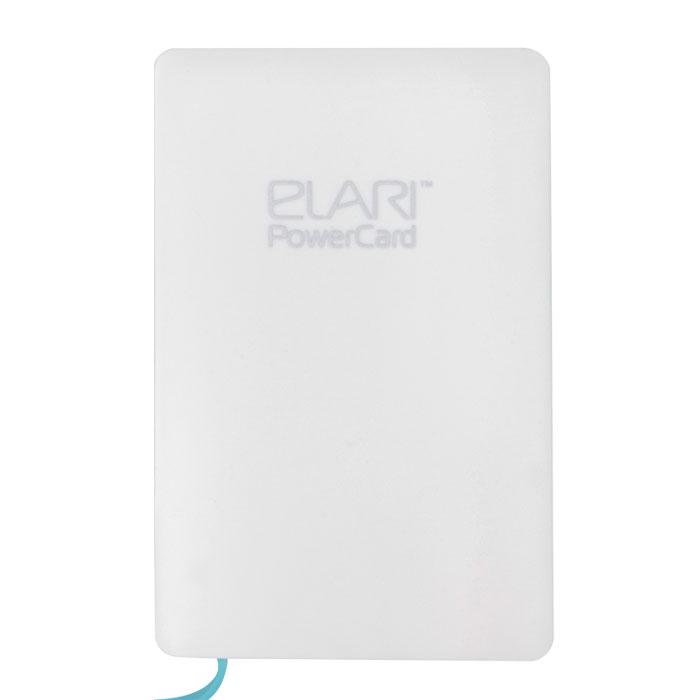Elari PowerCard, White внешний аккумулятор с адаптером LightningELPC1WHTElari PowerCard - единственный внешний аккумулятор размером чуть больше кредитной карты, весом 60 г и толщиной всего 6 мм легко поместится в вашем кармане или кошельке. Подходит для любых microUSB-устройств, a также, благодаря опциональному переходнику Lightning, - для iPhone 5/5S/5C, iPod и iPad. Вы можете забыть о дополнительных проводах, так как зарядный кабель компактно спрятан в корпусе. Продлевает работу аккумулятора смартфона практически в три раза, благодаря чему данная модель является незаменимой вещью для всех владельцев мобильных гаджетов.