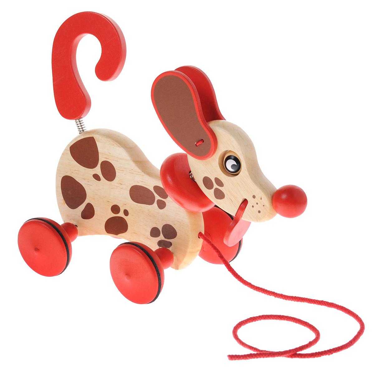 Djeco Деревянная игрушка-каталка Собака Бровни каталки djeco каталка на веревке слоник