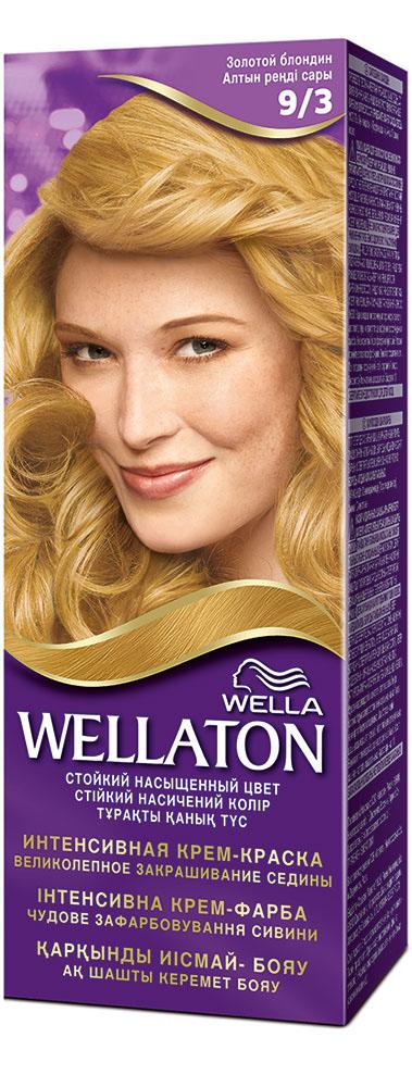 """Крем-краска для волос """"Wellaton"""" 9/3. Золотой блондин"""