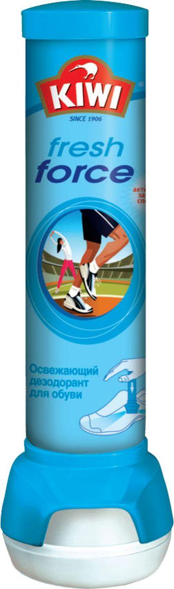 Спрей-дезодорант для обуви Kiwi Fresh Force, освежающий, 100 мл. 630217 губка для обуви kiwi express shine с дозатором цвет прозрачный 7 мл