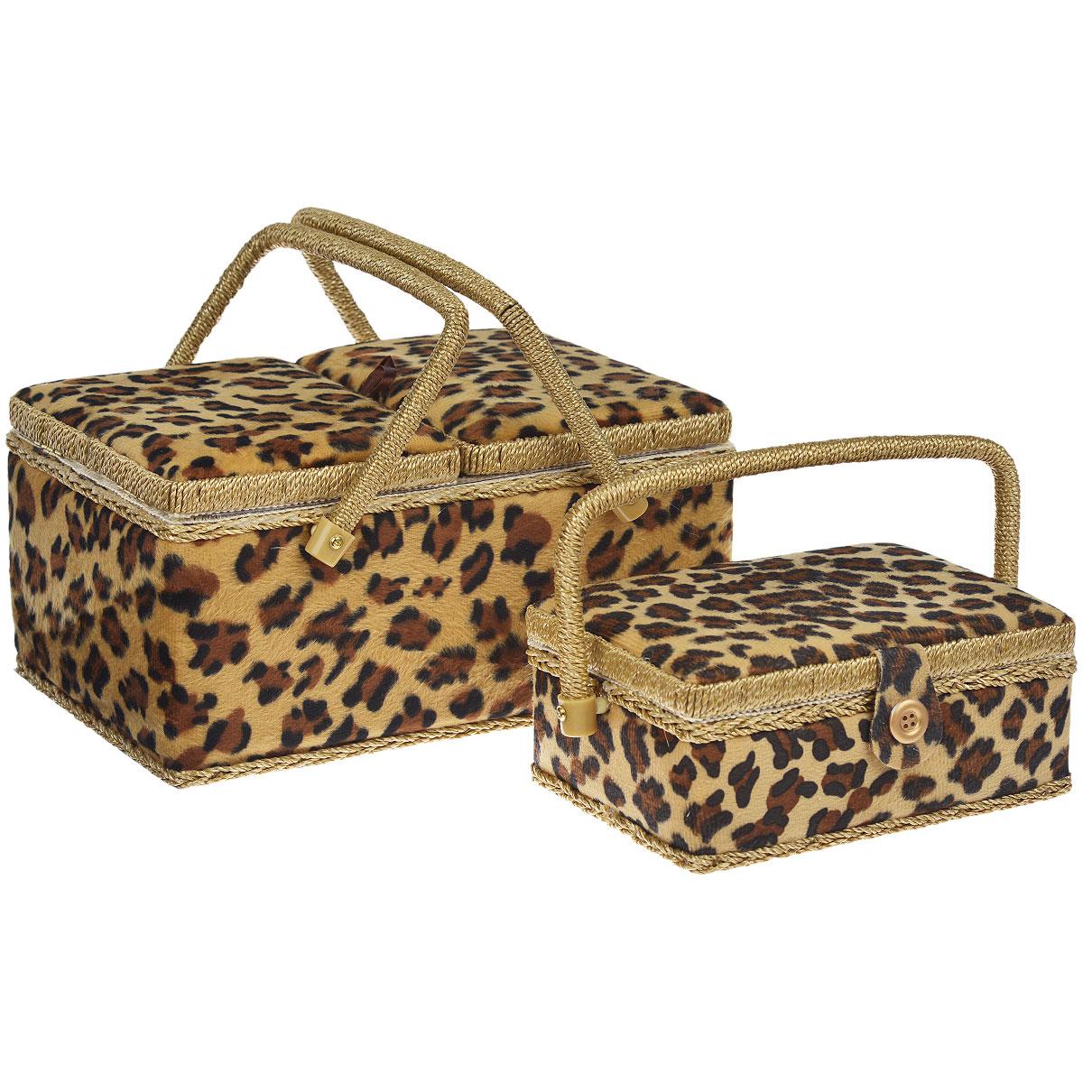 """Шкатулка для рукоделия """"Леопард"""" + Вторая шкатулка в подарок"""