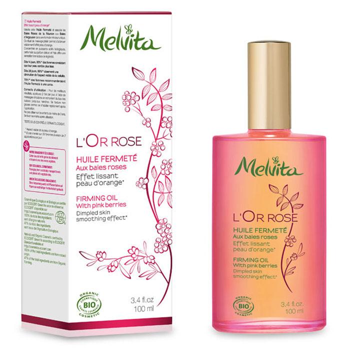 Melvita Укрепляющее антицеллюлитное масло L'Or Rose, 100 мл031152Настоящий подарок от Melvita тем, кто стремится к идеальным контурам тела и хочет наслаждаться каждым моментом ухода за собой. Ваша кожа становится плотнее, ровнее и мягче уже после первых дней применения. Четыре драгоценных масла, входящие в состав укрепляющего масла, не просто тонизируют кожу: они увлажняют и питают кожу, наполняя ее неуловимым ароматом жаркого солнца, океанского бриза и экзотических растений.Некомедогенно99% ингредиентов натурального происхождения.36% ингредиентов получены путем органического сельского хозяйства.• Семена и масло мякоти облепихи не только обладают функцией детоксикации, но и разрушают излишние триглецириды (жиры) в клетках адипоцитов, а также делают кожу более мягкой и ровной благодаря содержанию бета-каротина и витамина Е.• Масло черного перца улучшает микроциркуляцию и разрушает адипоциты. • Масло шиповника богато альфа-линоленовой кислотой, укрепляет и увлажняет кожу и делает ее более эластичной.