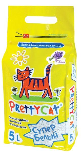 Наполнитель Pretty Cat Cупер белый для кошачьего туалета, глиняный, аромат лаванды, 4,2 кг620413Наполнитель Pretty Cat Cупер белый - это экологически чистый продукт, который производится из бентонитовых глин высших Европейских сортов по запатентованному рецепту. Натуральный комкующийся наполнитель впитывает до 400% влаги. Свежий аромат появляется только под воздействием влаги и придает дополнительное ощущение свежести в зоне лотка. Прекрасно комкуется в ровные шарики.Инструкция по применению:Насыпьте наполнитель слоем до 5-7 см в лоток. При использовании лотка с сеткой достаточно слоя под сеткой 1 см. Твердые отходы удаляйте каждый день. При возникновении неприятного запаха полностью смените наполнитель в лотке. Использованный наполнитель можно выбрасывать в бак. Не выбрасывайье в туалет! Pretty Cat - свежесть, забота и чистота! Размер гранул: 0,6 - 1,7 мм.Вес: 4,2 кг (5 л).