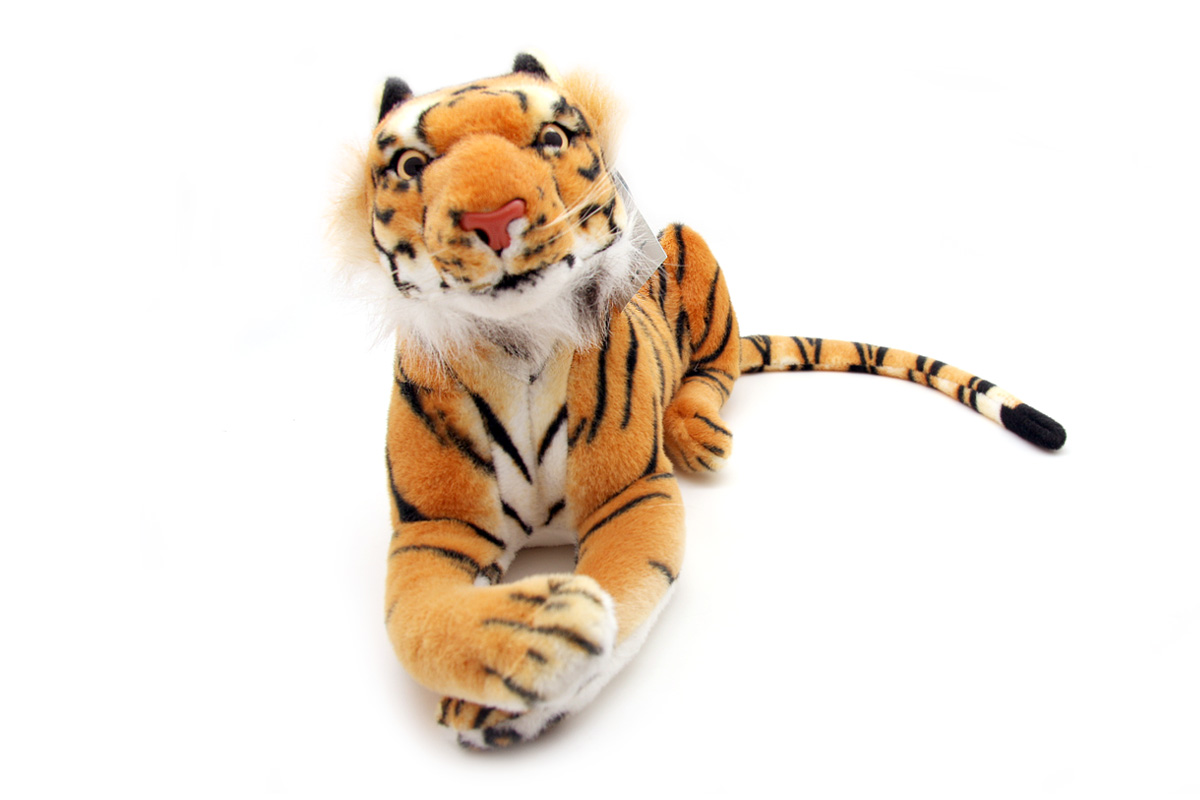 Мягкая игрушка Magic Bear Toys Тигр, 40 см magic bear toys мягкая игрушка медведь с заплатками в шарфе цвет коричневый 120 см