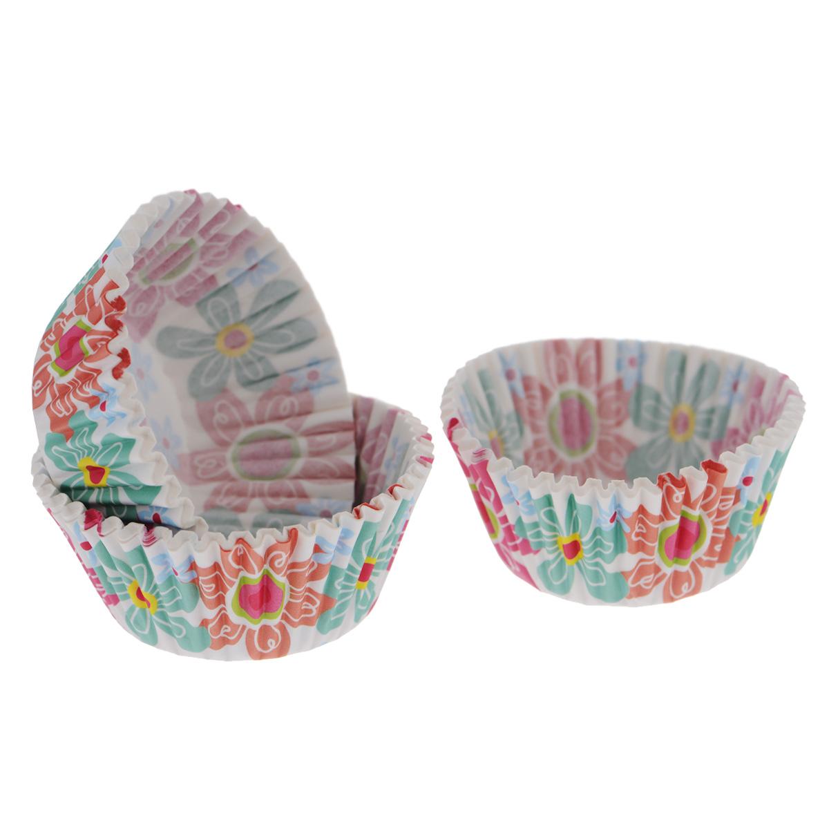 Набор бумажных форм для кексов Wilton Весна, диаметр 5 см, 75 штWLT-415-6080Набор Wilton Весна состоит из 75 бумажных форм для кексов. Они предназначены для выпечки и упаковки кондитерских изделий, также могут использоваться для сервировки орешков, конфет и др. Формы не требуют предварительной смазки маслом или жиром. Для одноразового применения. Гофрированные бумажные формы идеальны для выпечки кексов, булочек и пирожных. Высота стенки: 3 см. Комплектация: 75 шт.