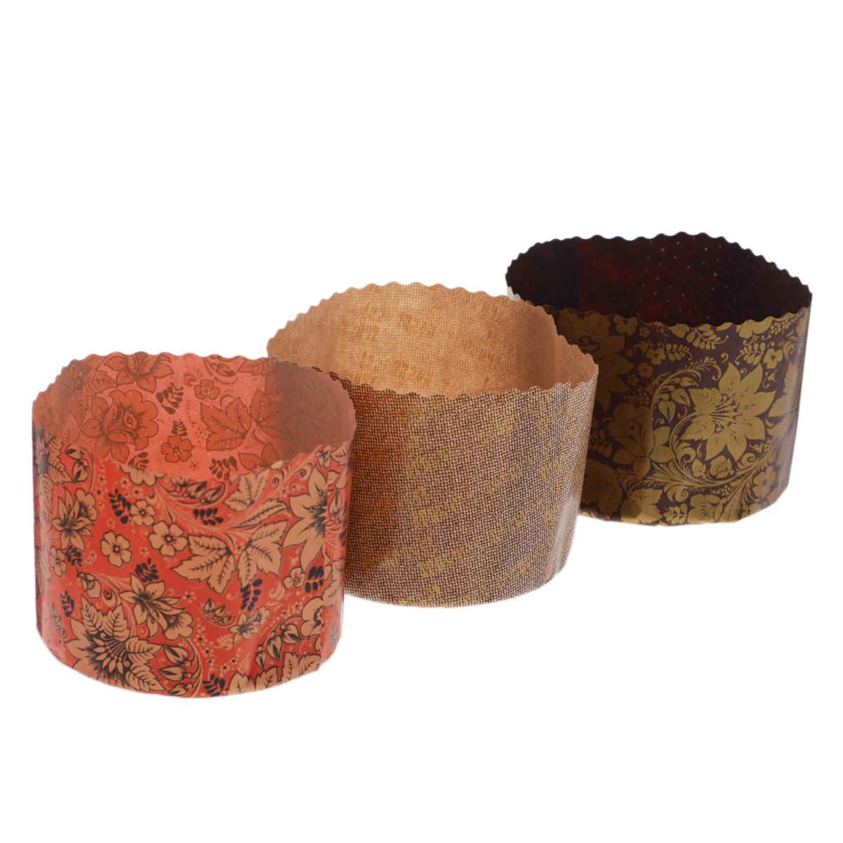Набор форм для выпечки куличей Marmiton Пасхальный, 1 л, 3 шт набор форм для запекания marmiton диаметр 27 5 см 5 шт