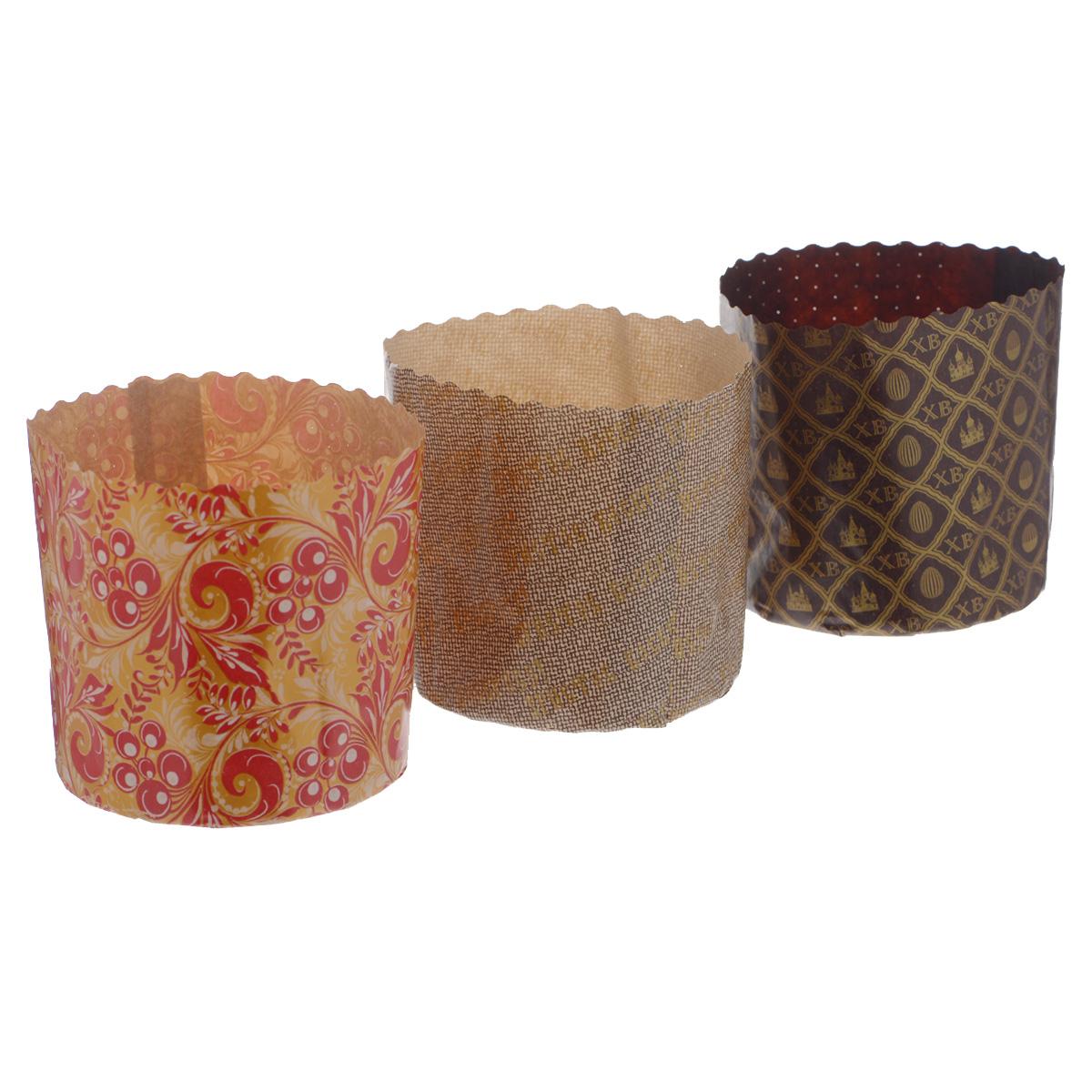 Набор форм для выпечки куличей Marmiton Пасхальный, 0,5 л, 3 шт бумажные формы для куличей тверь