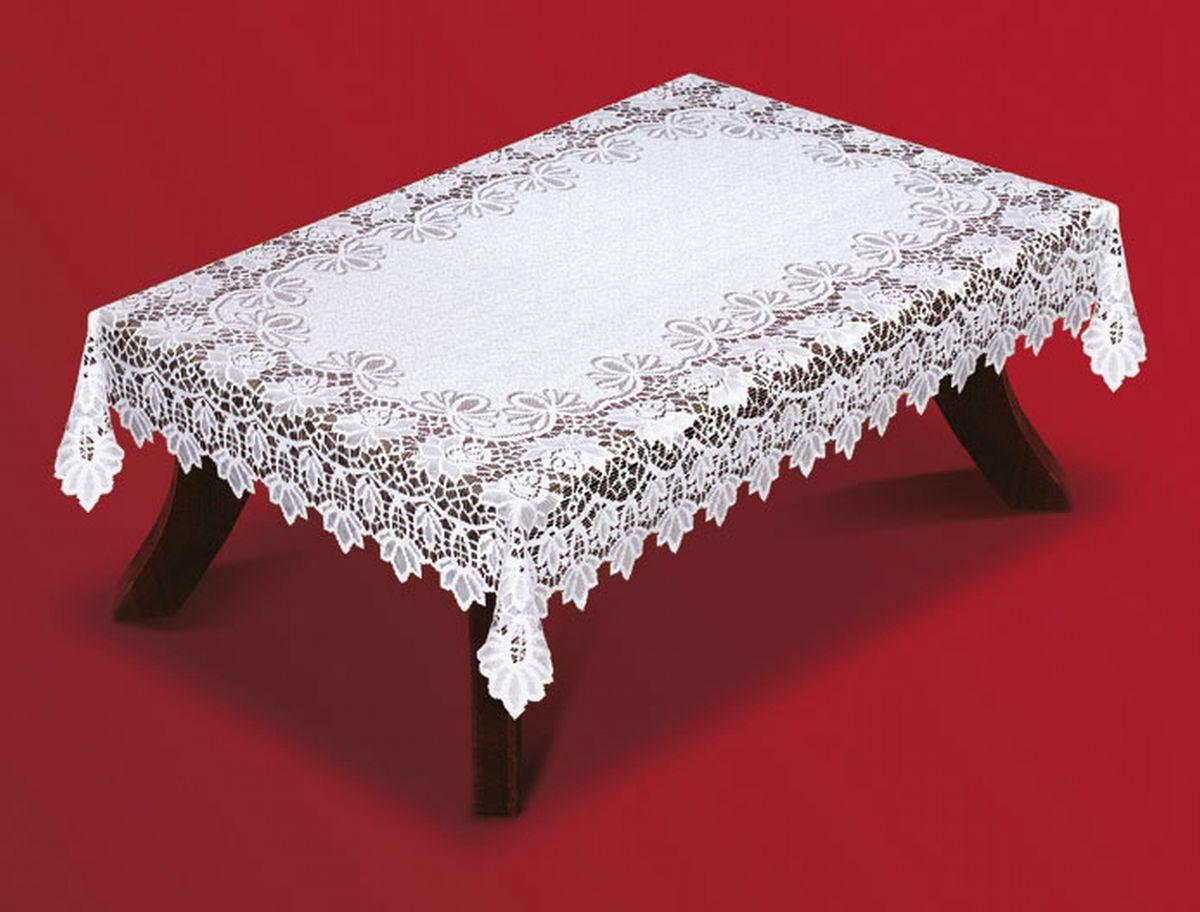 Скатерть Haft, прямоугольная, цвет: белый, 130 x 180 см. 202540-130