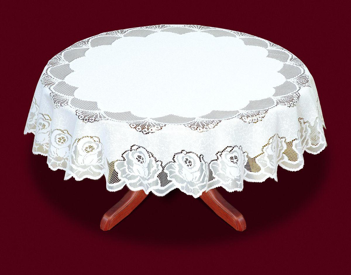 Скатерть Haft, цвет: белый, диаметр 160 см33330-160Великолепная круглая скатерть Haft, выполненная из полиэстера, органично впишется в интерьер любого помещения, а оригинальный дизайн удовлетворит даже самый изысканный вкус. Скатерть изготовлена из сетчатого материала с ажурным цветочным рисунком по краям. Скатерть Haft создаст праздничное настроение и станет прекрасным дополнением интерьера гостиной, кухни или столовой.Диаметр скатерти: 160 см.