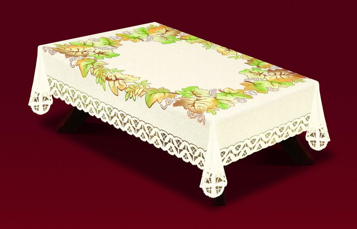 Скатерть Haft Листья, прямоугольная, цвет: молочный, зеленый, коричневый, 130  x 180 см. 33440-130 haft 221074 120