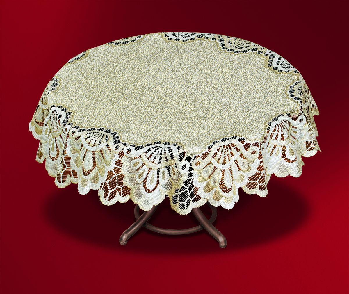 Скатерть Haft, цвет: кремовый, золотистый, диаметр 140 см. 46193-140