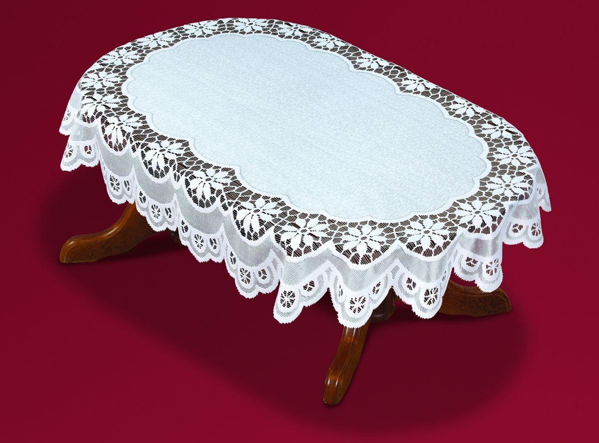 Скатерть Haft, овальная, цвет: белый, 120  x 160 см. 50321-120 скатерть овальная 220х150см цвет бежевый