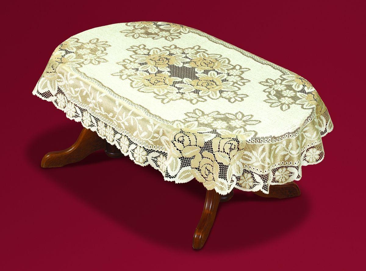 Скатерть Haft, овальная, цвет: кремовый, золотистый, 130  x 180 см. 54111-130 скатерть wisan овальная цвет зеленый 130 х 180 см