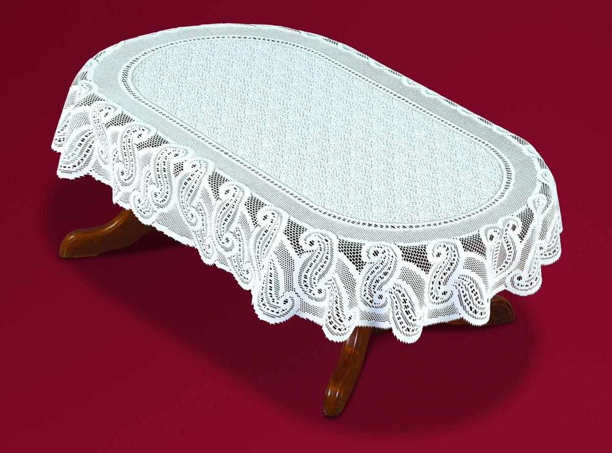 Скатерть Haft, овальная, цвет: белый, 110 x 170 см. 54461-110