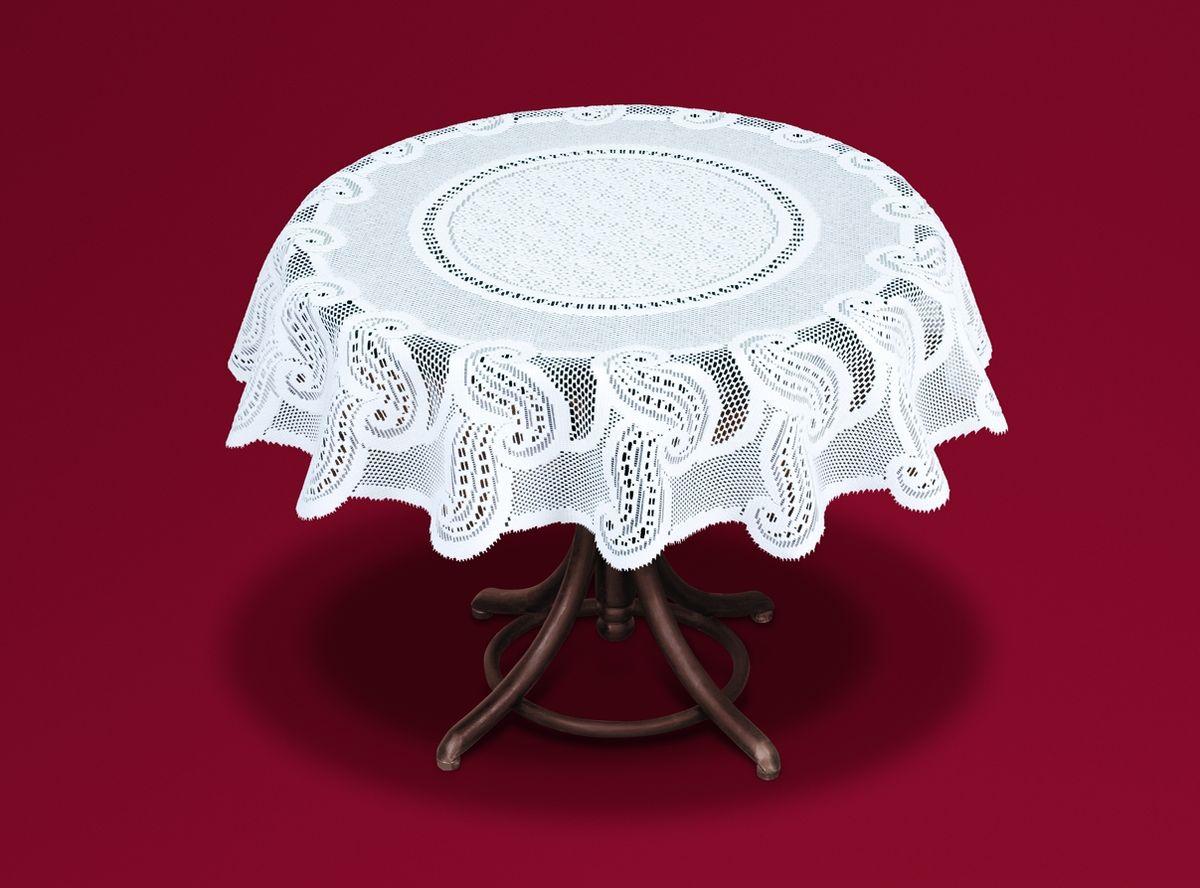 Скатерть Haft, цвет: белый, диаметр 120 см