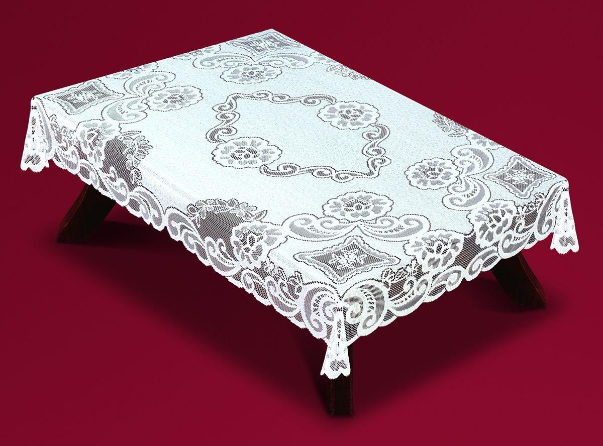 Скатерть Haft, прямоугольная, цвет: белый, 120x 160 см. 54920-12054920-120Великолепная прямоугольная скатерть Haft, выполненная из полиэстера, органично впишется в интерьер любого помещения, а оригинальный дизайн удовлетворит даже самый изысканный вкус. Скатерть изготовлена из сетчатого материала с ажурным рисунком.Скатерть Haft создаст праздничное настроение и станет прекрасным дополнением интерьера гостиной, кухни или столовой.