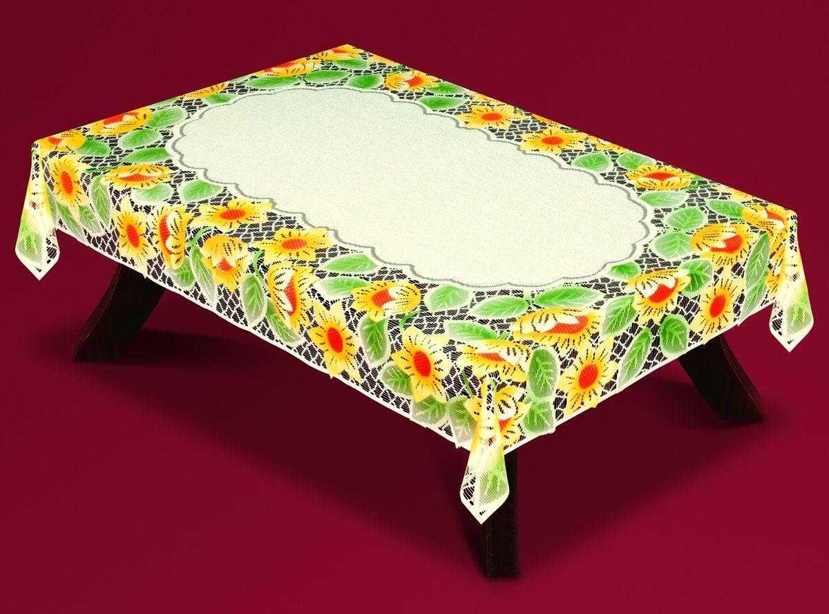 Скатерть Haft Подсолнухи, прямоугольная, цвет: кремовый, желтый, зеленый, 220  x 150 см. 54940-150 haft 221074 120