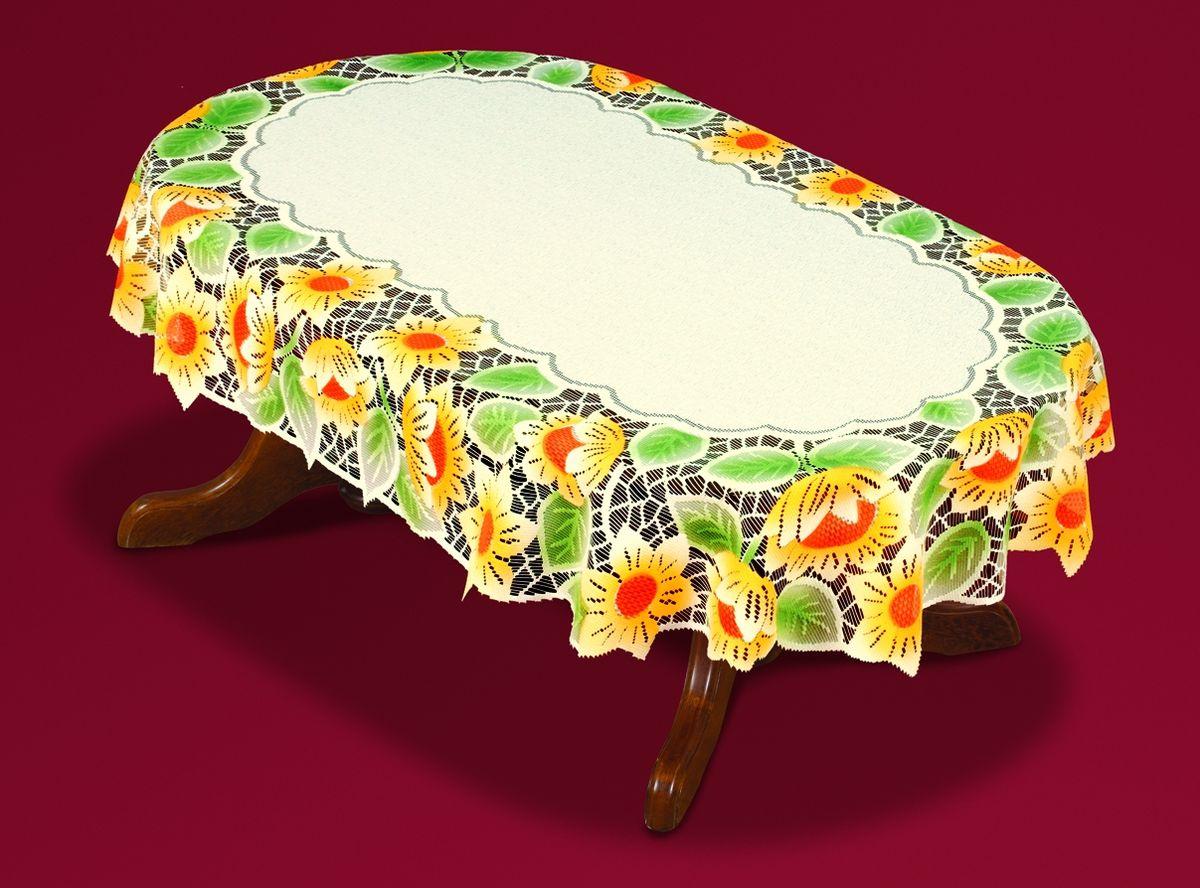 Скатерть Haft Подсолнухи, овальная, цвет: кремовый, желтый, зеленый, 130  x 180 см. 54941-130 haft 221074 120