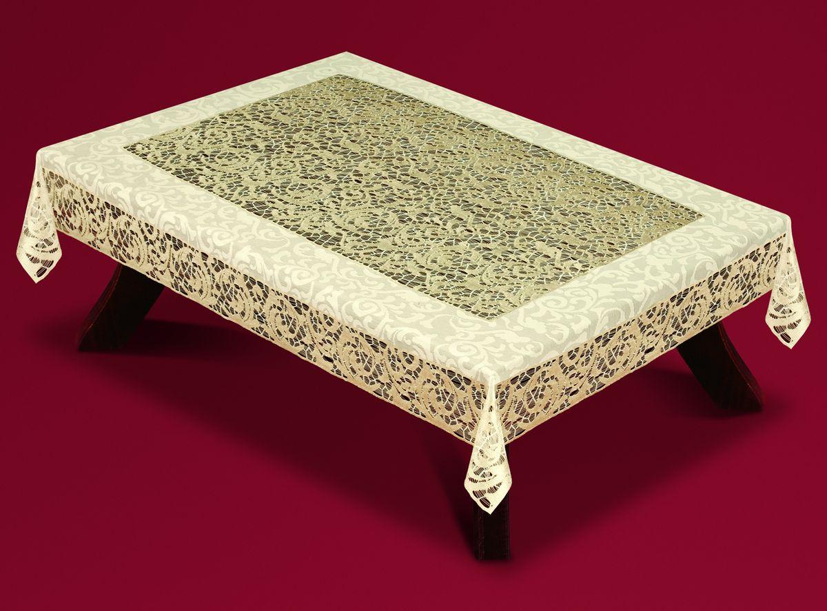 Скатерть Haft, прямоугольная, цвет: кремовый, золотистый, 100 x 150 см. 59180-100