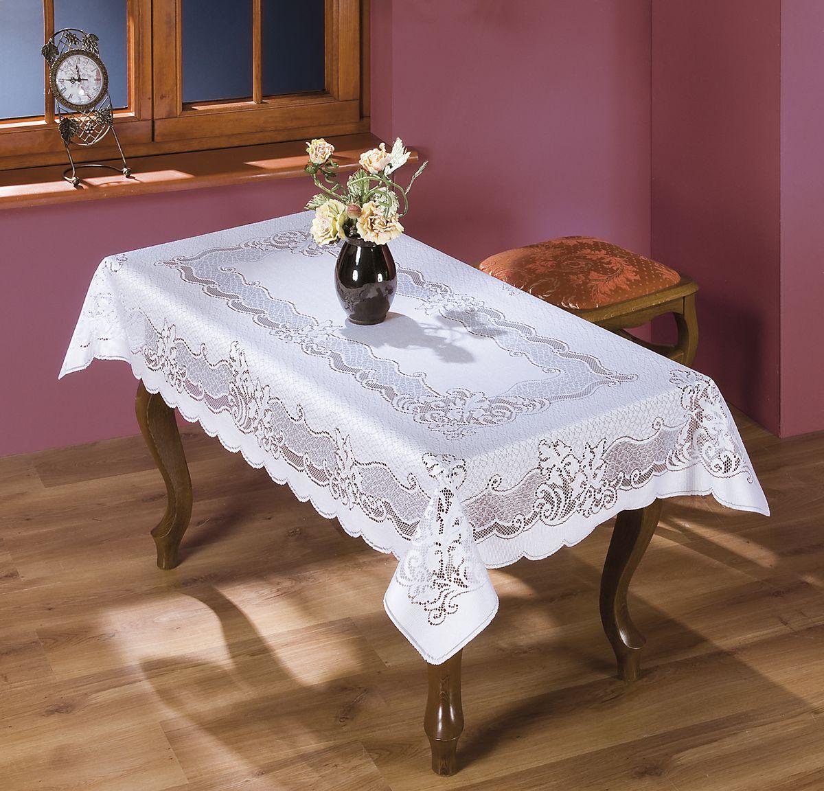Скатерть Wisan Wojciech, прямоугольная, цвет: белый, 130 x 180 см. 8902 скатерти niklen скатерть 110х145см