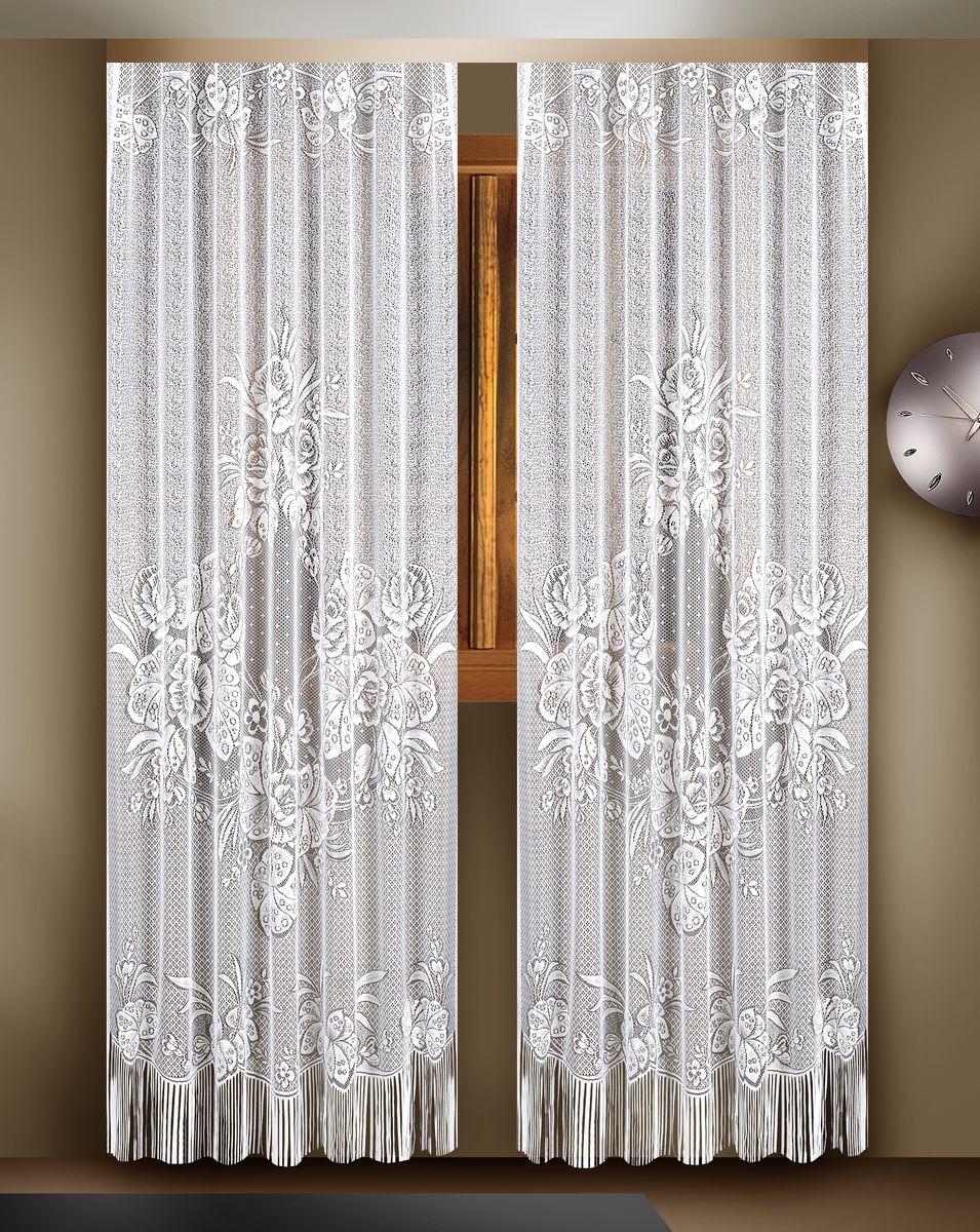 Гардина Zlata Korunka,цвет: белый, высота 260 см, 2 шт. 8882188821Гардины Zlata Korunka великолепно украсят любое окно в гостиной, спальне или на кухне. В комплекте 2 гардины, выполненные из полиэстера и украшенные красивым цветочным узором. Нижняя часть изделий оформлена бахромой, что придает гардинам особый стиль и шарм. Тонкое плетение, нежная цветовая гамма и роскошное исполнение - все это делает гардины Zlata Korunka замечательным дополнением интерьера комнаты в классическом стиле. В комплект входит: Гардина - 2 шт. Размер (ШхВ): 165 см х 260 см.УВАЖАЕМЫЕ КЛИЕНТЫ!Обращаем ваше внимание - шторная лента в комплект не входит.