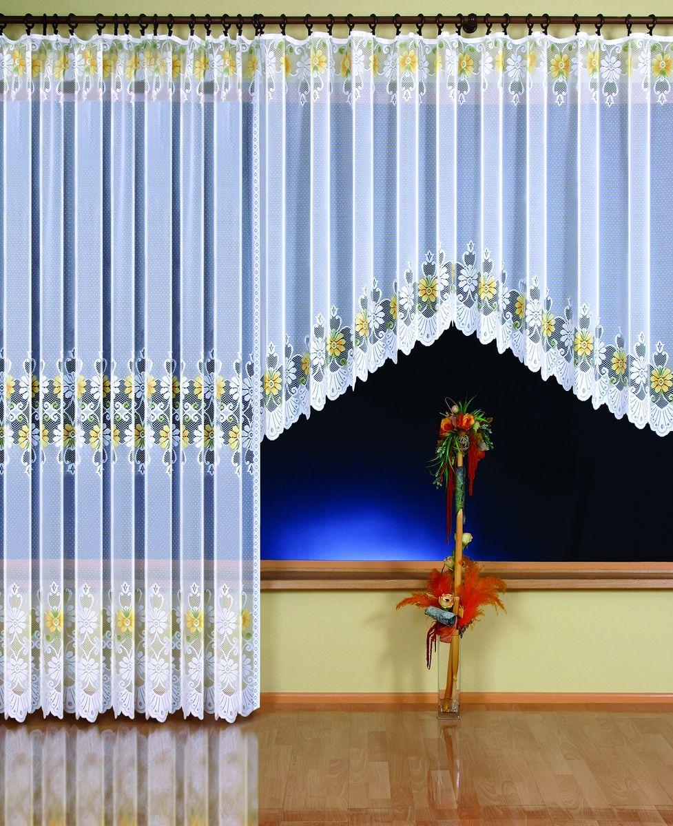 Гардина Wisan Ewelina, на ленте, цвет: белый, высота 150 см9361Воздушная гардина Wisan Ewelina, изготовленная из полиэстера, станет великолепным украшением любого окна. Изделие, оформленное цветочным рисунком, привлечет к себе внимание и органично впишется в интерьер комнаты. Оригинальное оформление гардины внесет разнообразие и подарит заряд положительного настроения.Гардина оснащена шторной лентой для крепления на карниз. Уважаемые клиенты!Обращаем ваше внимание на тот факт, что в комплект входит гардина 150 см. Фотография, представленная на сайте, служит для визуального восприятия товара.