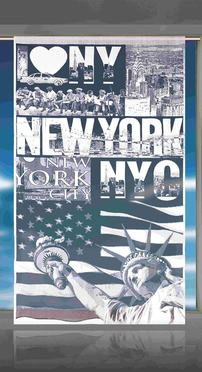 Гардина-панно Wisan New York, цвет: белый, черный, высота 240 смE114Воздушная гардина-панно Wisan New York, изготовленная из полиэстера, станет великолепным украшением любого окна. Оригинальный принт в виде достопримечательностей Нью-Йорка и приятная цветовая гамма привлекут к себе внимание и органично впишутся в интерьер комнаты.Верхняя часть гардины не оснащена креплениями.