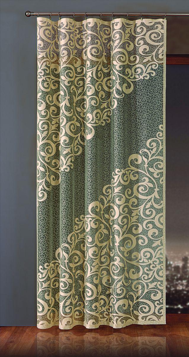 Гардина-панно Wisan Esy, на ленте, цвет: бежевый, черный, высота 250 смE181Воздушная гардина-панно Wisan Esy, изготовленная из полиэстера, станет великолепным украшением любого окна. Изделие украшено изящным орнаментом.Оригинальное оформление гардины-панно внесет разнообразие и подарит заряд положительного настроения. Гардина-панно оснащена шторной лентой для крепления на карниз.