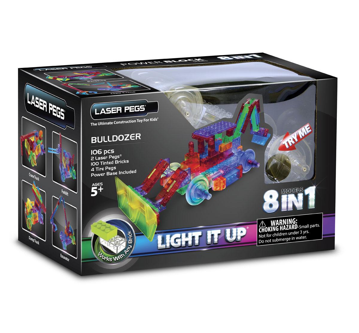 Laser Pegs Конструктор Бульдозер 8 в 1 конструкторы laser pegs световая панель 3d