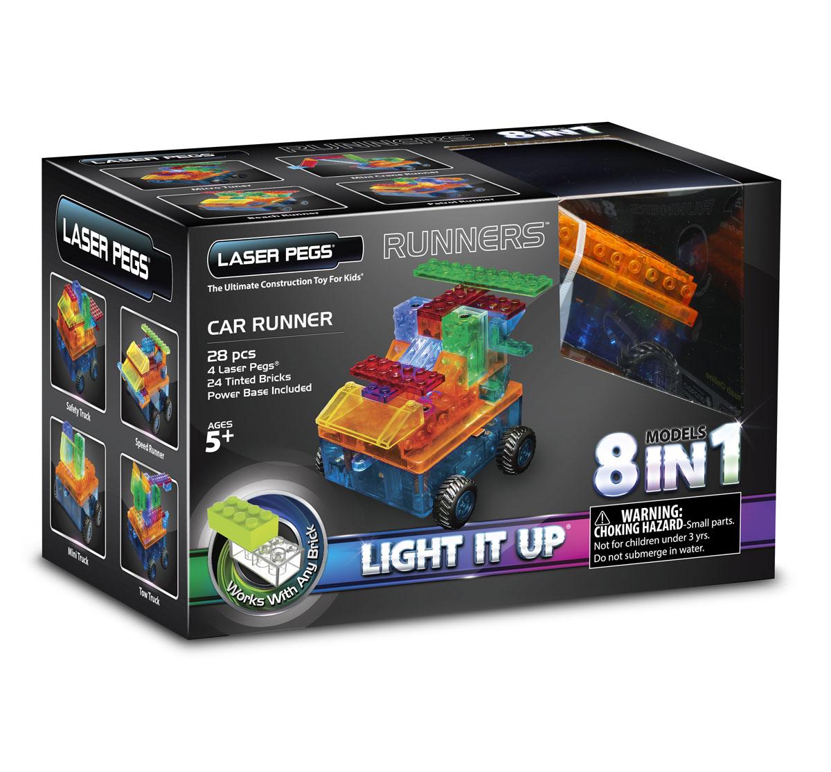 Laser Pegs Конструктор Военная машина 8 в 1 конструкторы laser pegs световая панель 3d