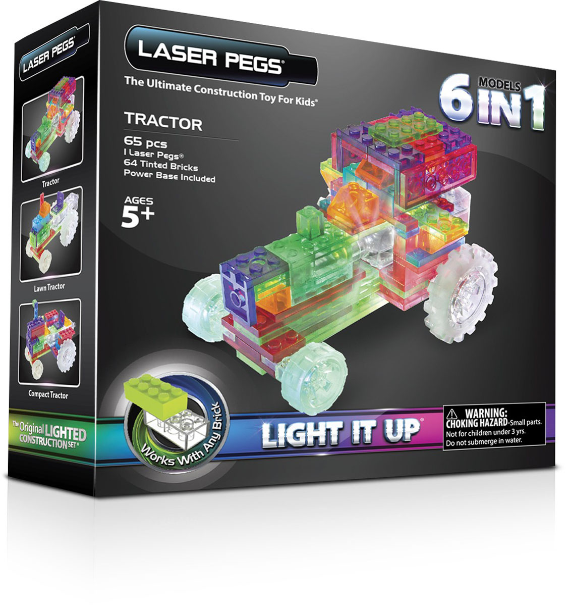 Laser Pegs Конструктор Трактор 6 в 1