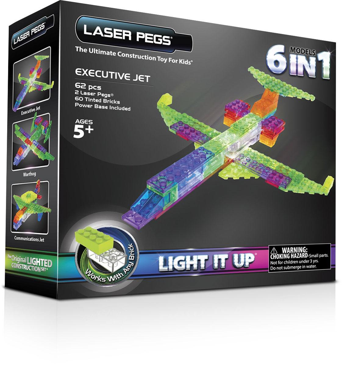 Laser Pegs Конструктор Самолет 6 в 1 конструкторы laser pegs световая панель 3d