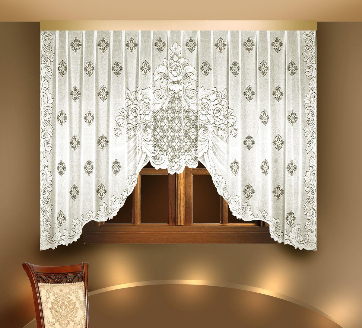 Гардина Zlata Korunka, цвет: белый, ширина 350 см, высота 175 см. 88803 гардина 400 175 см zlata korunka цвет белый коричневый