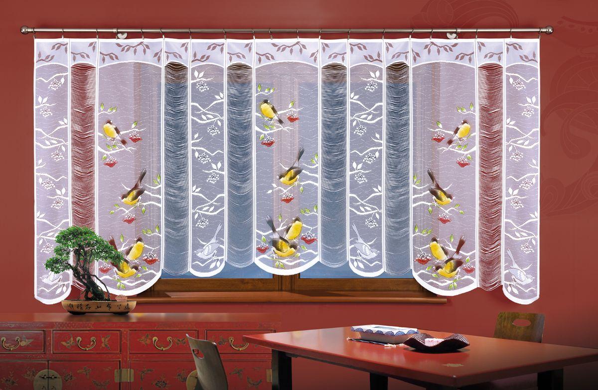 Гардина Wisan Птички, цвет: белый, высота 150 смА918Воздушная гардина Wisan Птички, изготовленная из полиэстера, станет великолепным украшением любого окна. Оригинальный принт в виде птичек и приятная цветовая гамма привлекут к себе внимание и органично впишутся в интерьер комнаты. Оригинальное оформление гардины внесет разнообразие и подарит заряд положительного настроения.Верхняя часть гардины не оснащена креплениями.