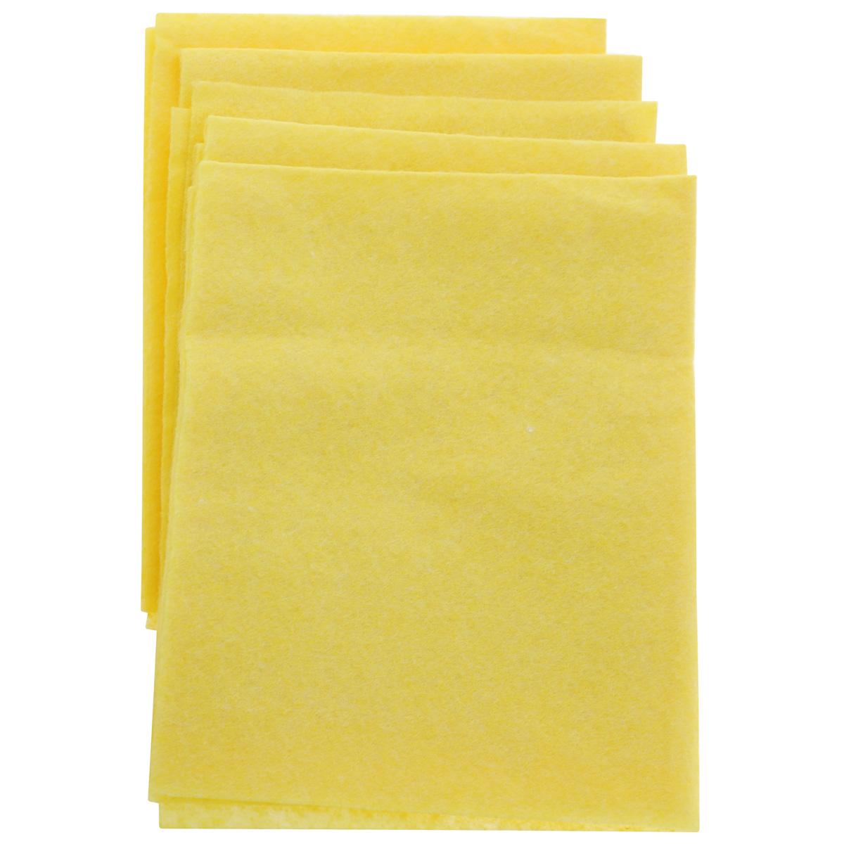 Салфетка для уборки Home Queen, цвет: желтый, 30 х 38 см, 5 шт57118Салфетка Home Queen, изготовленная из вискозы и полиэстера, предназначена для очищения загрязнений на любых поверхностях. Изделие обладает высокой износоустойчивостью и рассчитано на многократное использование, легко моется в теплой воде с мягкими чистящими средствами. Супервпитывающая салфетка не оставляет разводов и ворсинок, удаляет большинство жирных и маслянистых загрязнений без использования химических средств. Размер салфетки: 30 см х 38 см.Комплектация: 5 шт.
